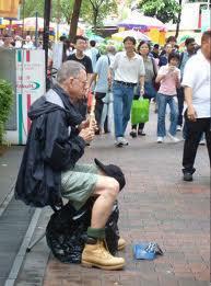 Singapore beggar